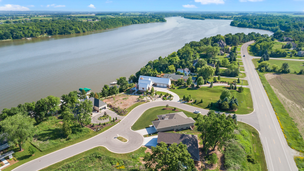 House on Lake Aerial Photo De Pere