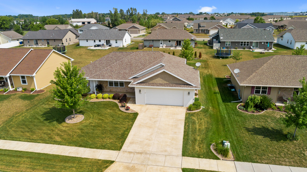 Aerial Front of house Green Bay