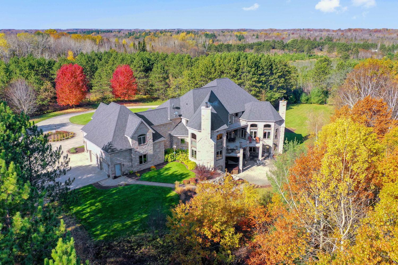 House on Lake Aerial Photo De Pere